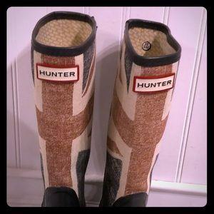 Hunter Union Jack Wellington boots